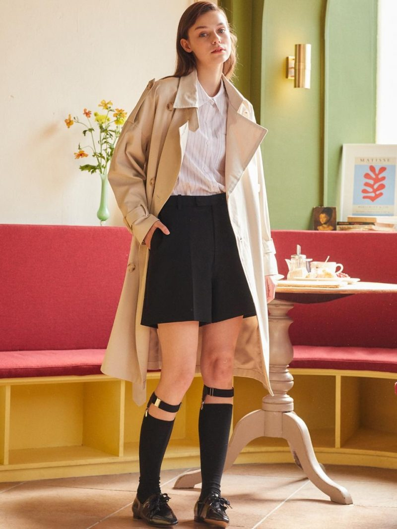 Over Trench Coat Ivory