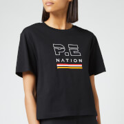 P.E Nation Women's Ignition Cropped Short Sleeve T-Shirt - Black - S
