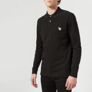 PS Paul Smith Men's Long Sleeve Zebra Polo Shirt - Black - S
