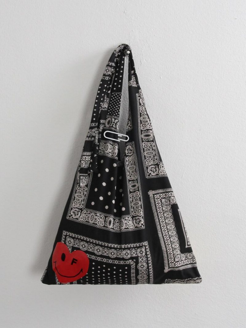 Paisely Bandana Bag With White Clip