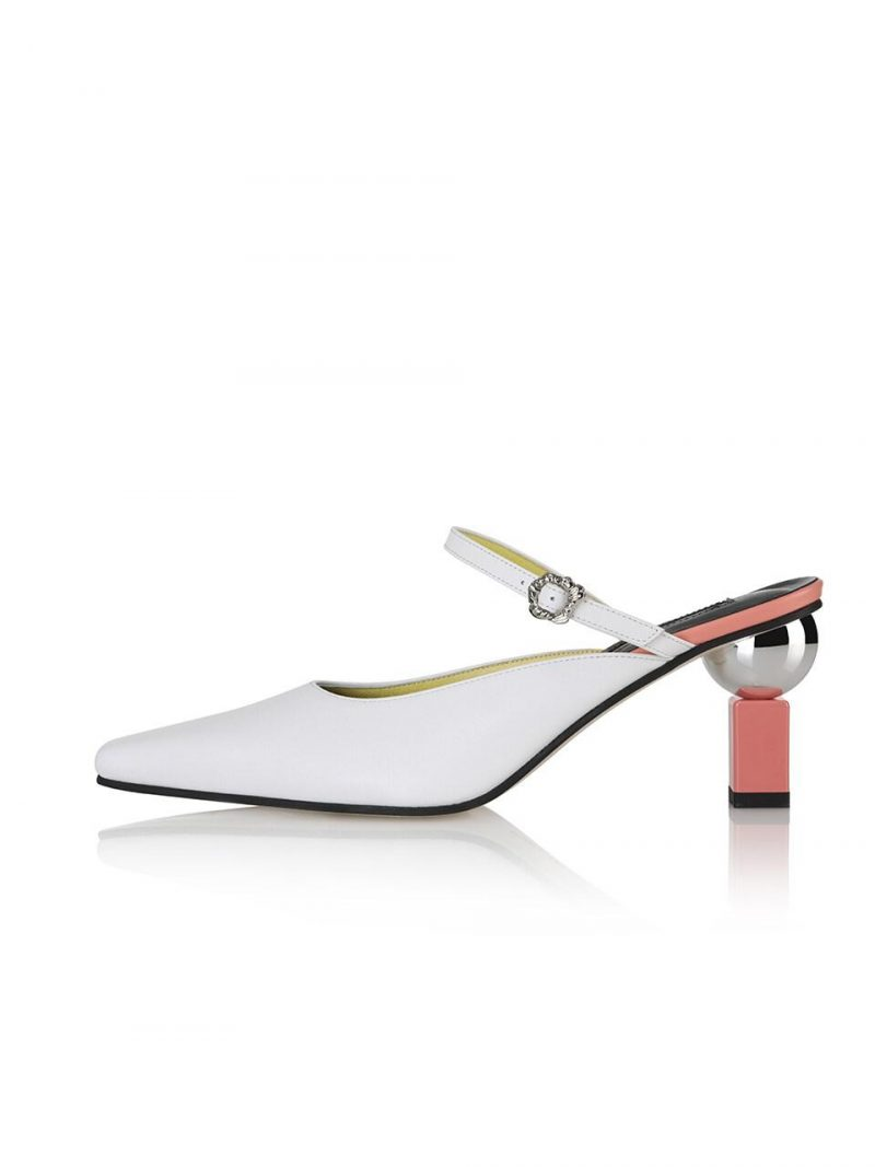 Peyton Sandals / 20RS-S415 White+Peach