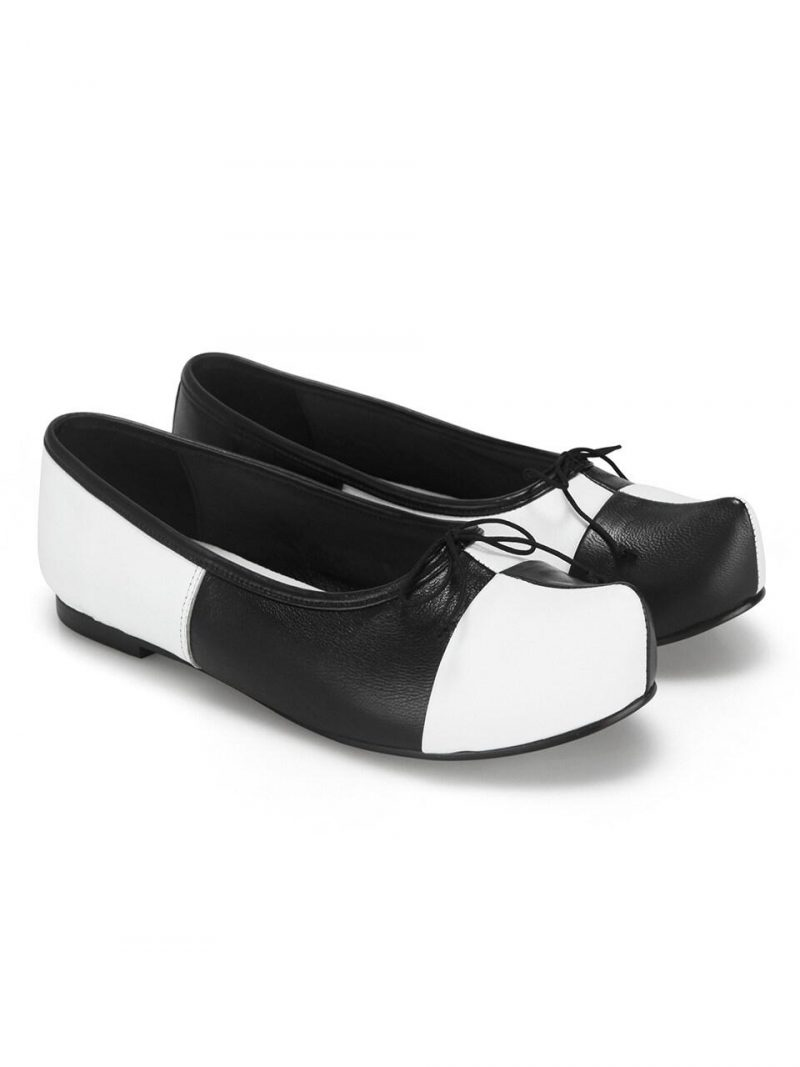 Pointed Toe Ballerina Flats _ Checkerboard