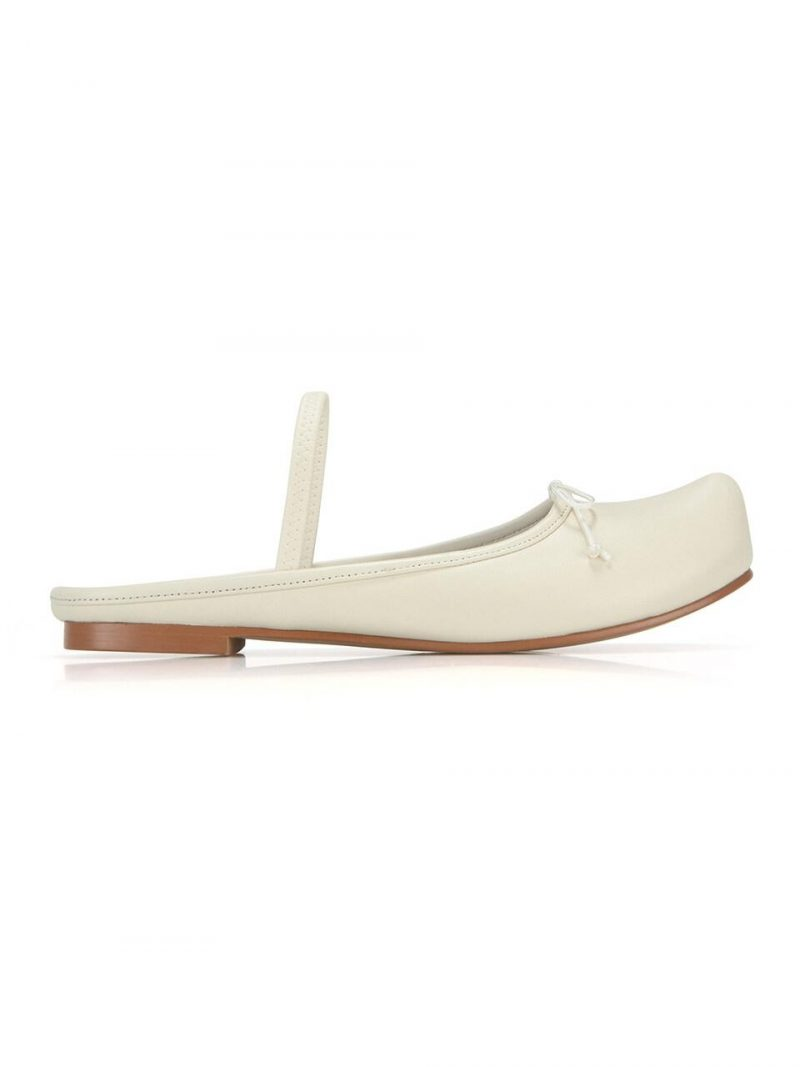 Pointed Toe Ballerina Sabot _ Butter