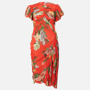 Preen By Thornton Bregazzi Women's Meggy Dress - Red Lotus Flower - XS