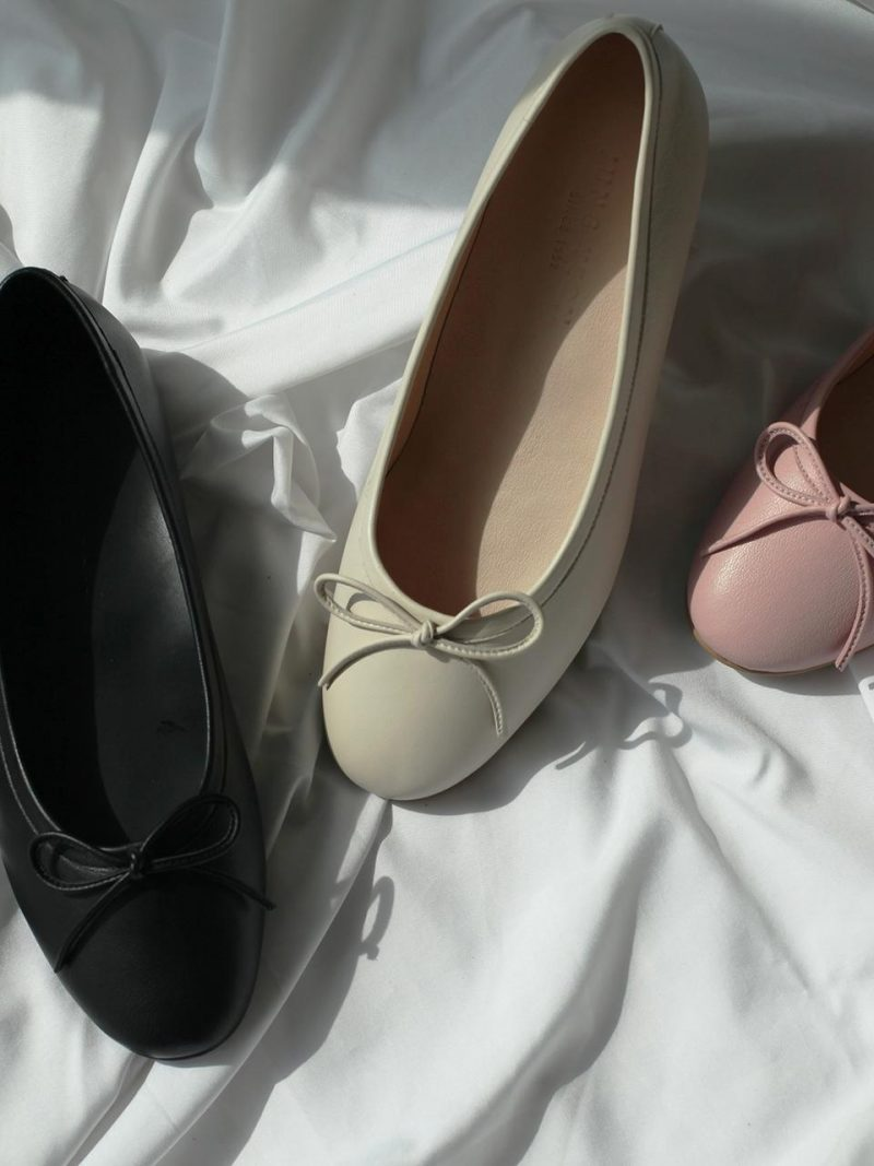 Rounded Ballerina Shoes 3 Colors