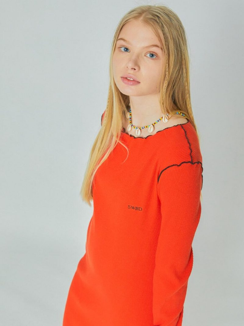 SWBD Logo Dress Orange