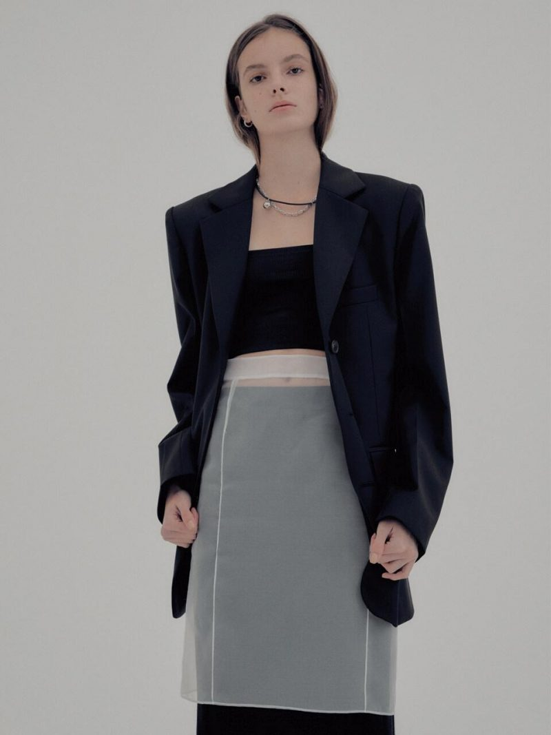 Signature Wool Belted Tailored Jacket Black