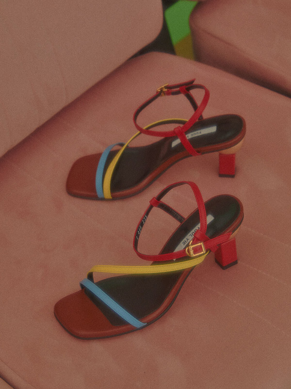 Sofia Sandals_20SS-S436 Brick Brown+Red