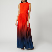 Solace London Women's Willow Maxi Dress - Blood Orange/Ombre Teal - UK 6