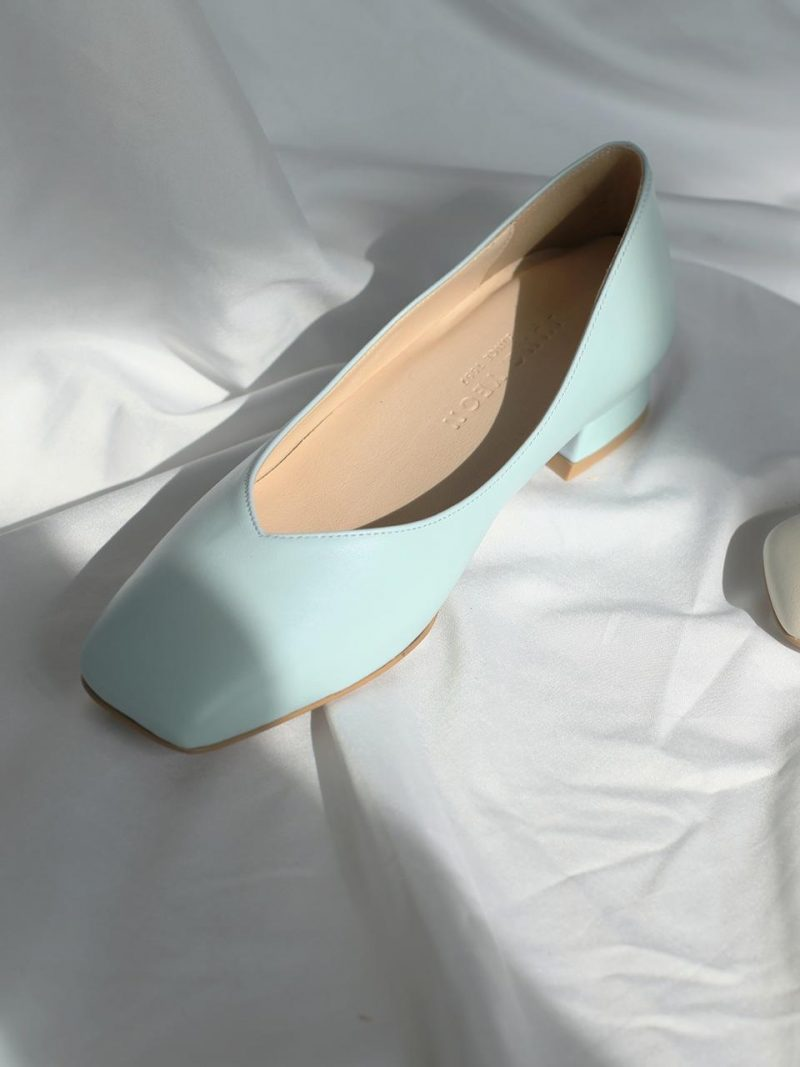 Spring Squared Flatty Shoes 3 Colors