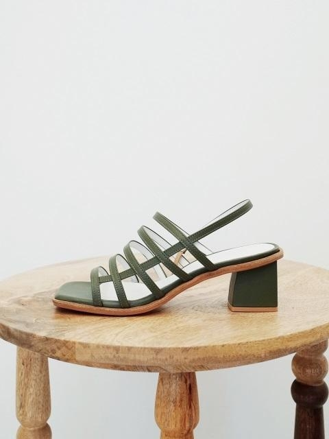 Square Mama Sandals Olive Green