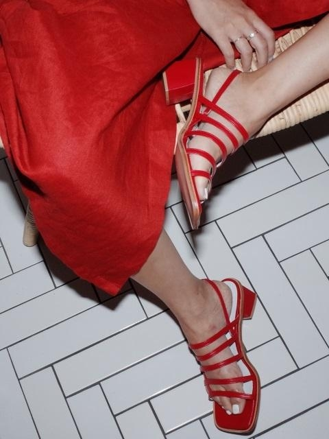 Square Mama Sandals Red