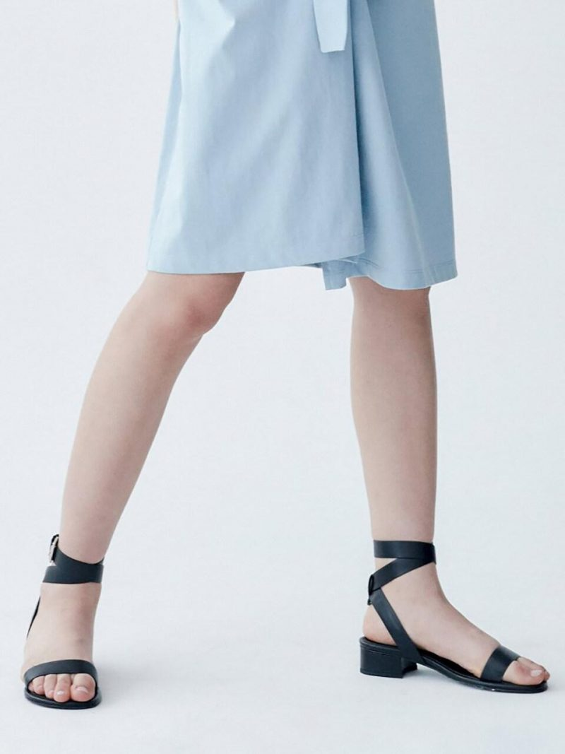 Strap Buckle Sandal - Black