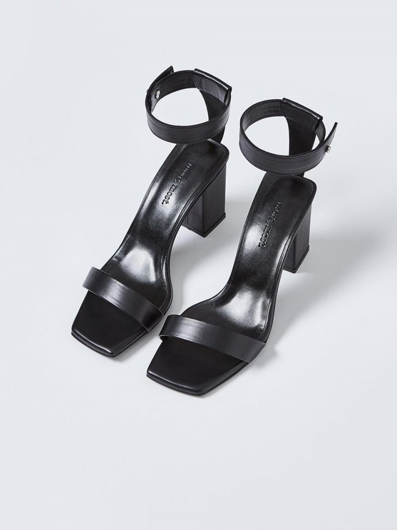 T Strap Stud Sandal_MM060_Black