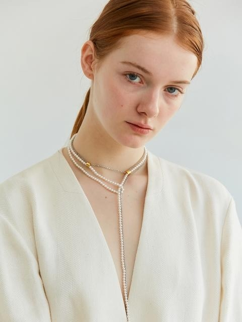 Thin Chain And Pearl Drop Necklace