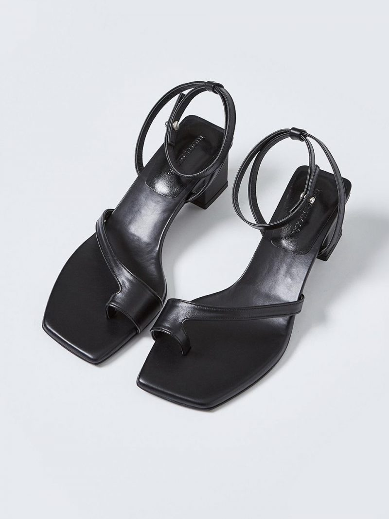 Toe Tied Stud Sandal_MM061_Black