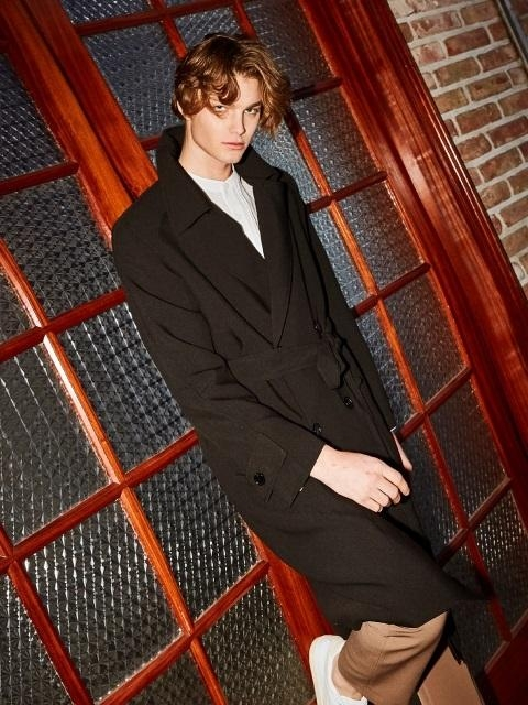 Tom Over Fit Trench Coat_Black