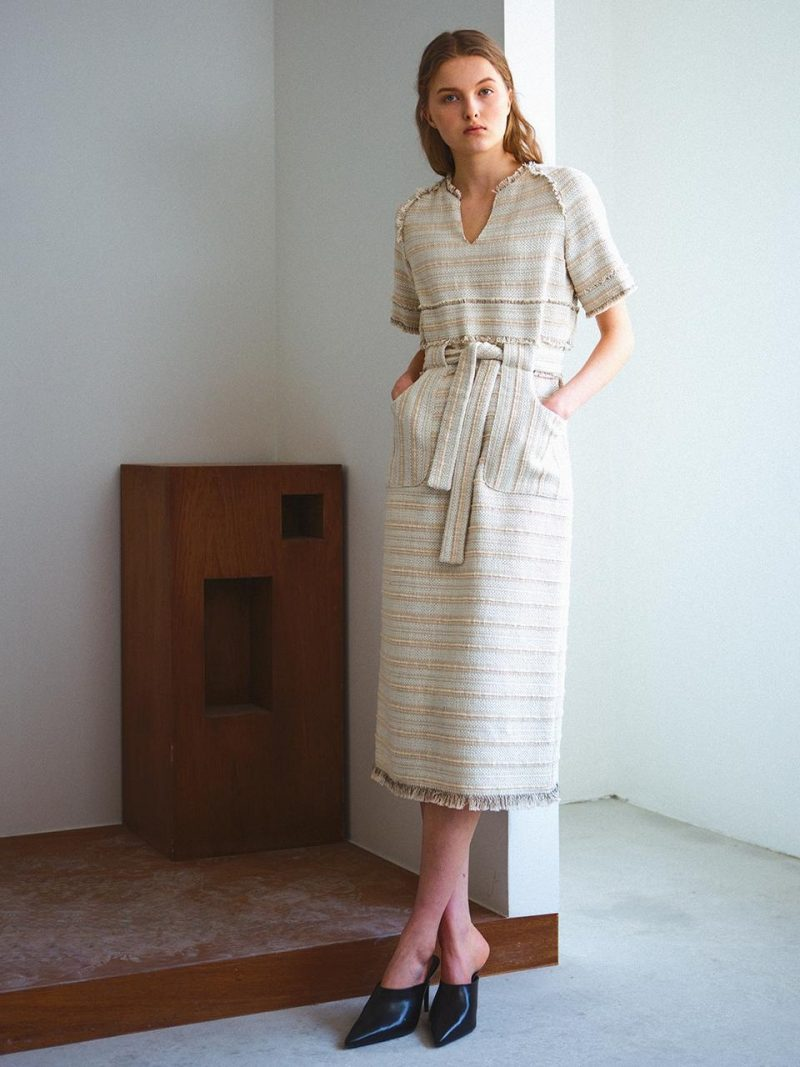 Tweed Tiered Dress