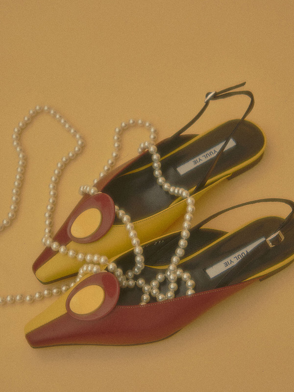 Twiggy Flat Sandals_20SS-S427 Baby Yellow+Brick Br