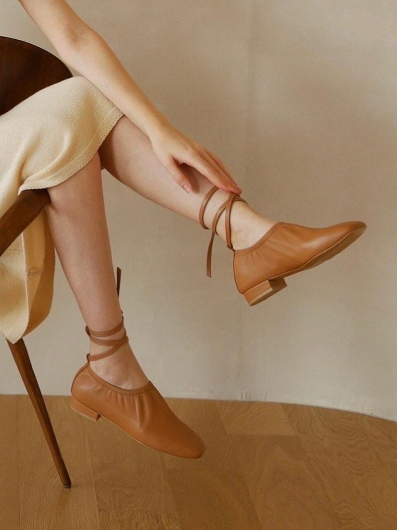 [US]Deil Flat Shoes - Beige