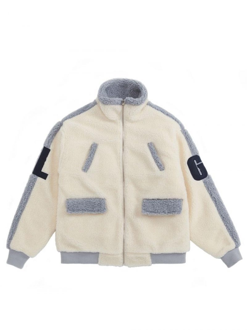 [Unisex] Heavy Faux Fur Turtle Jacket - Gray