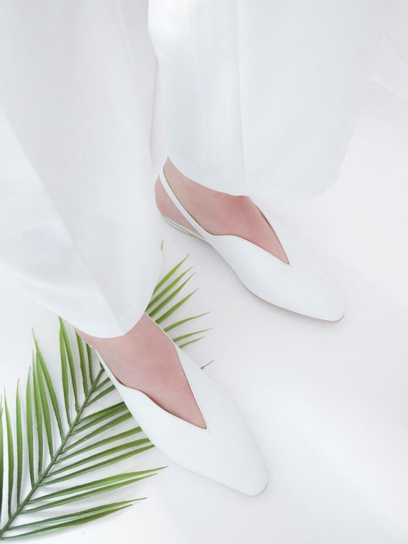 Wave Backless Flat Shoes