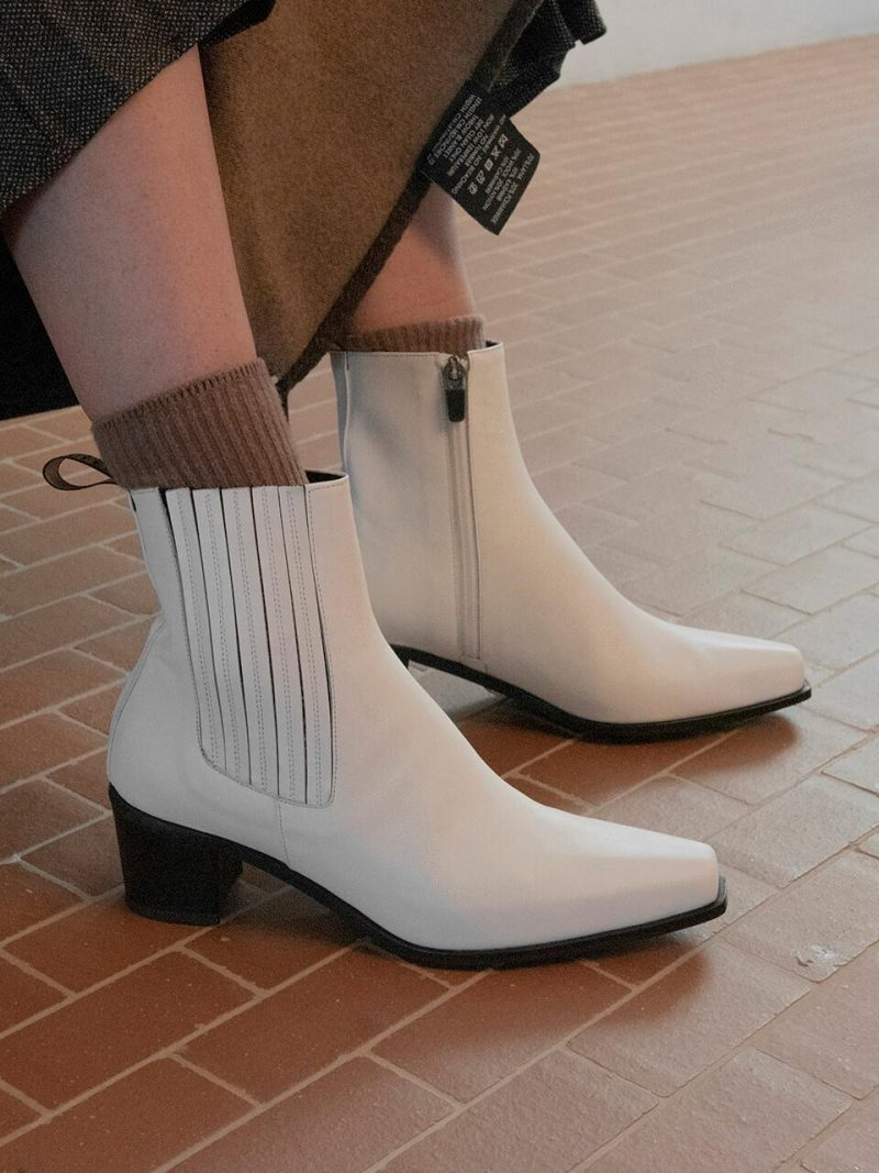 Western Boots_White
