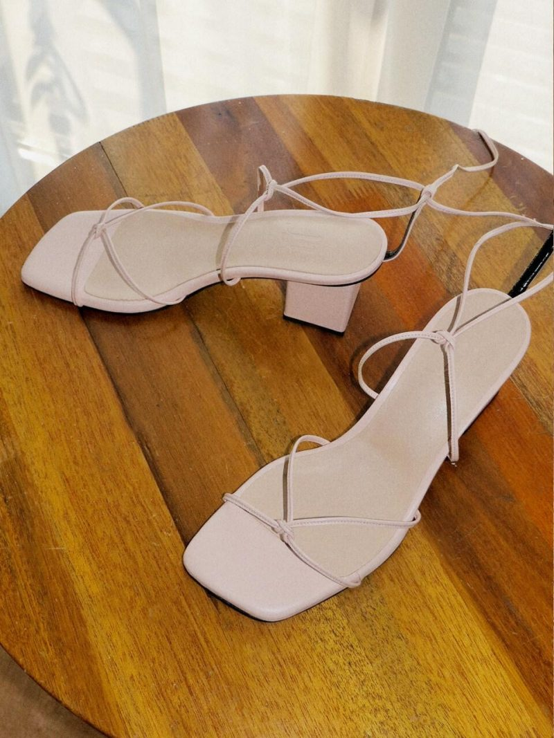 Y01 Jane Candy Lace-up Sandals YY20S-S49Light Pink
