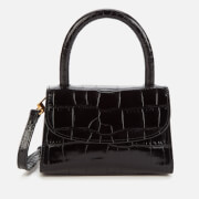 by FAR Women's Mini Croco Embossed Shoulder Bag - Black
