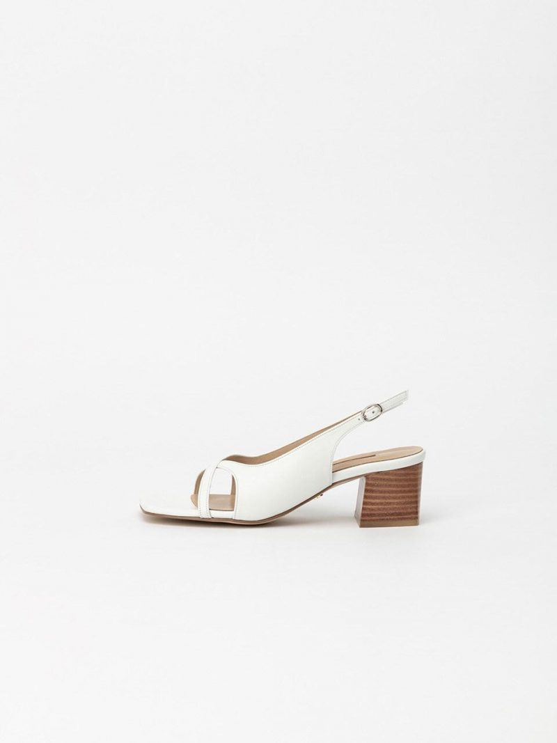 Albus Slingback Sandals In Pure White