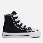 Converse Toddlers' Chuck Taylor All Star Hi-Top Trainers - Black - UK 2 Toddler - Black