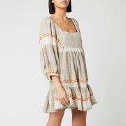 Free People Women's Cozy Striped Mini Dress - Ivory Combo - L