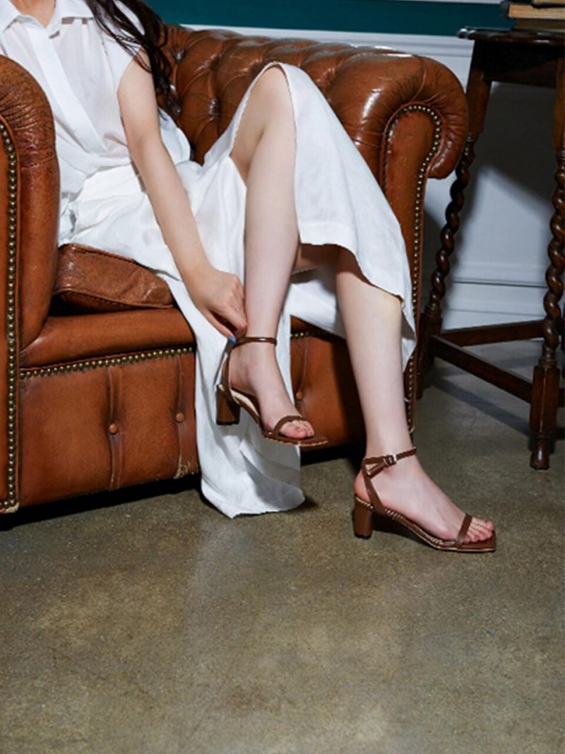 Square Simple Strap Sandal