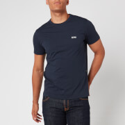 BOSS Men's Basic Crew Shoulder Logo T-Shirt - Navy - XXL
