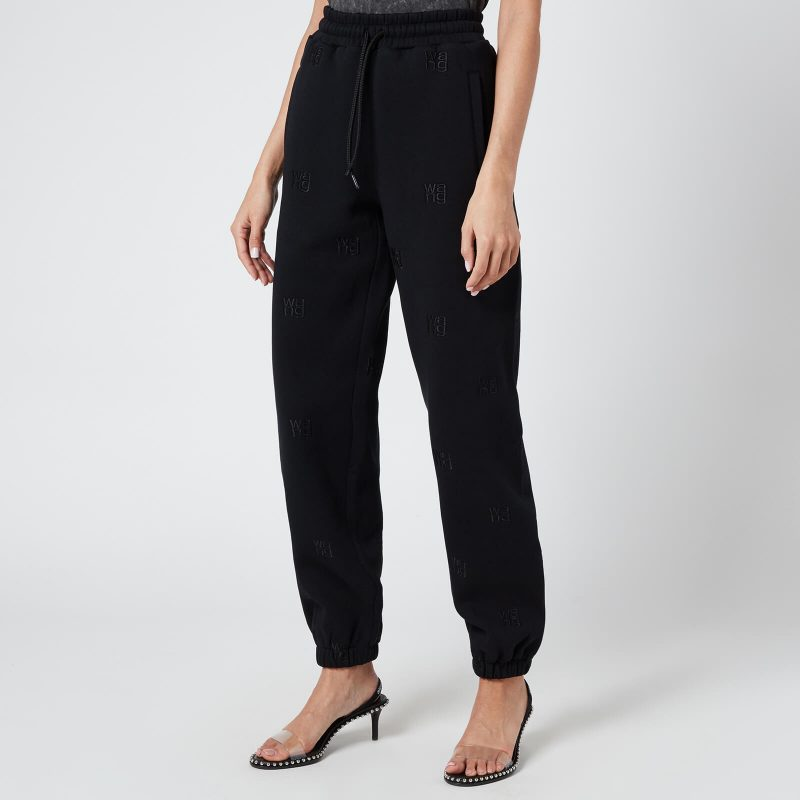 Alexander Wang Women's Jogger with Allover Embroidery - Black - S