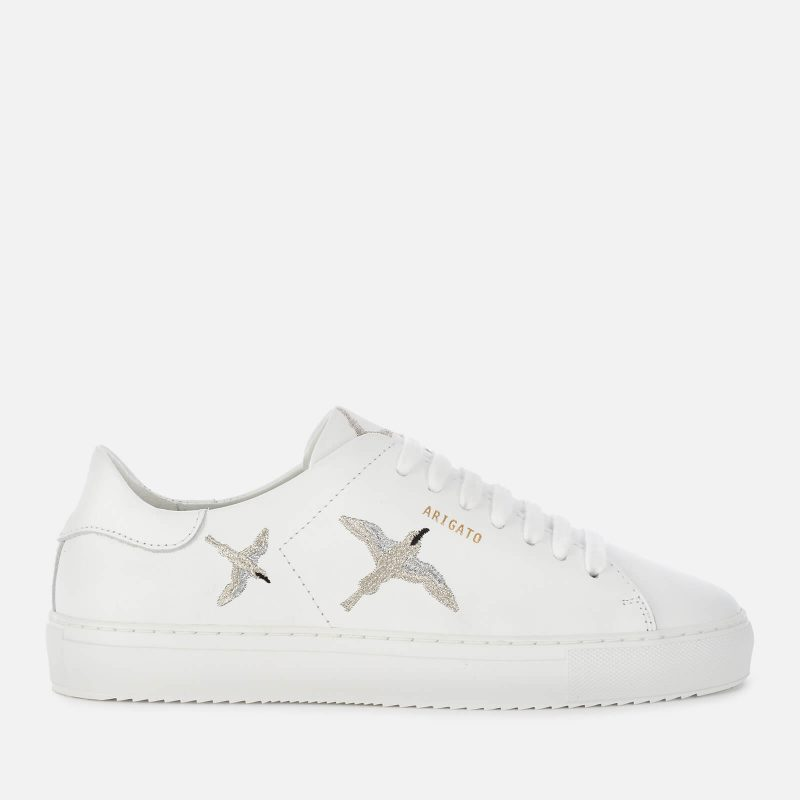 Axel Arigato Women's Clean 90 Bird Leather Cupsole Trainers - White/Silver - UK 3