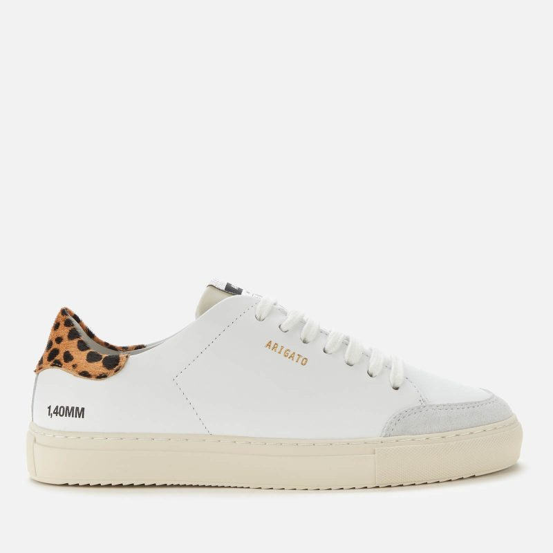 Axel Arigato Women's Clean 90 Triple Animal Leather Cupsole Trainers - White/Leopard/Cremino - UK 8