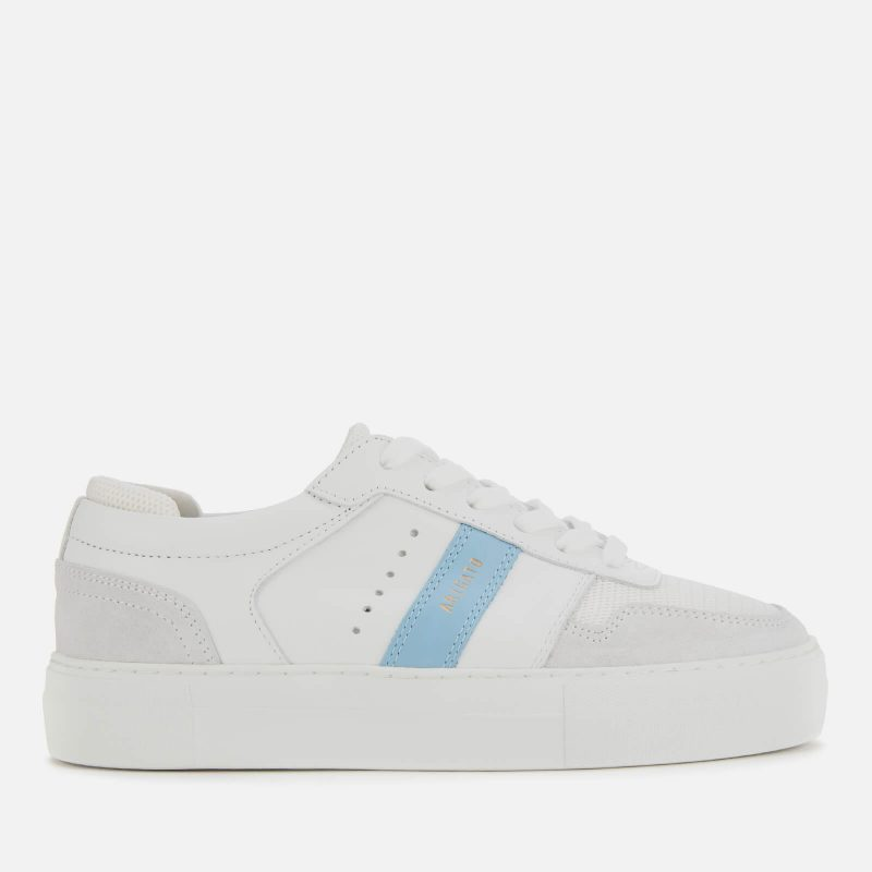 Axel Arigato Women's Detailed Leather Platform Trainers - White/Dusty Blue - UK 3.5