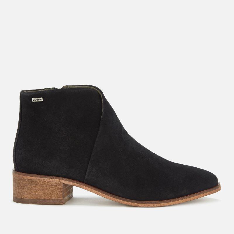 Barbour Women's Caryn Suede Heeled Ankle Boots - Black - UK 4