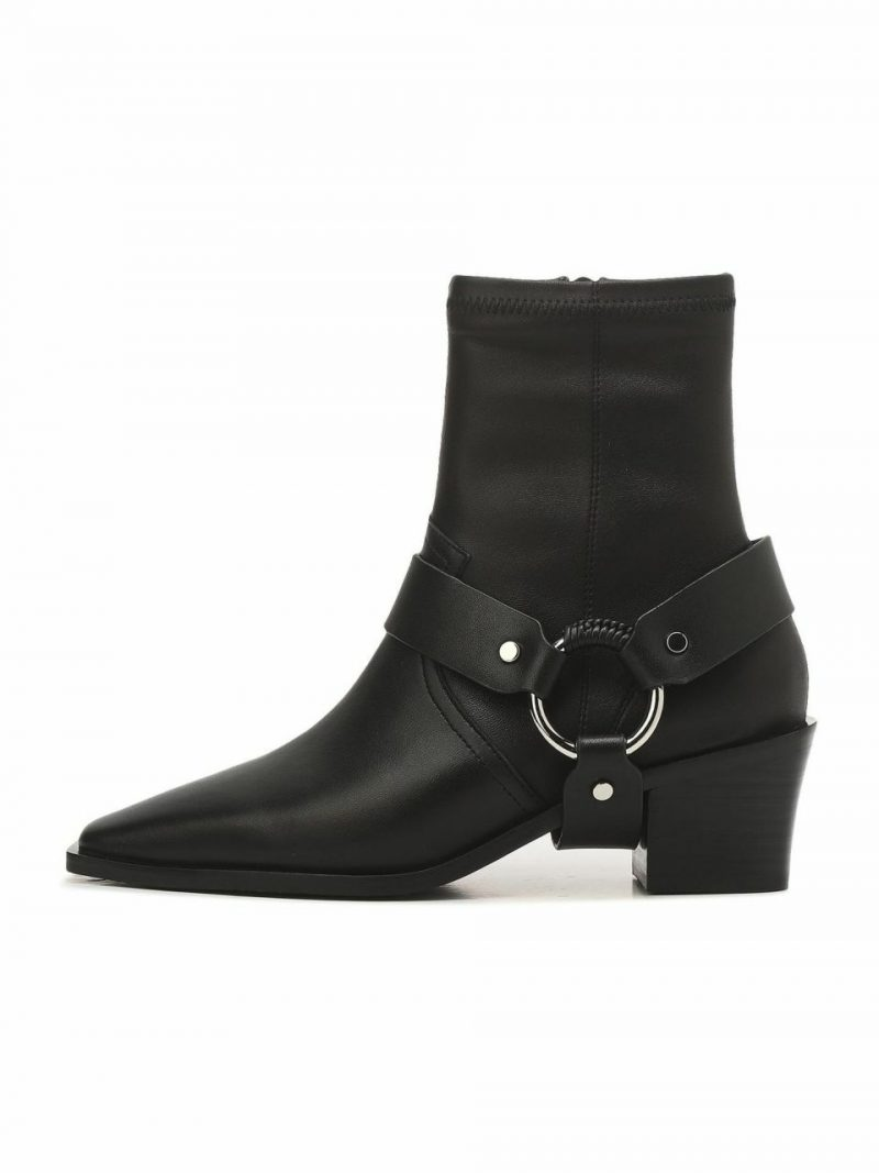 Black Strap Casual Boots
