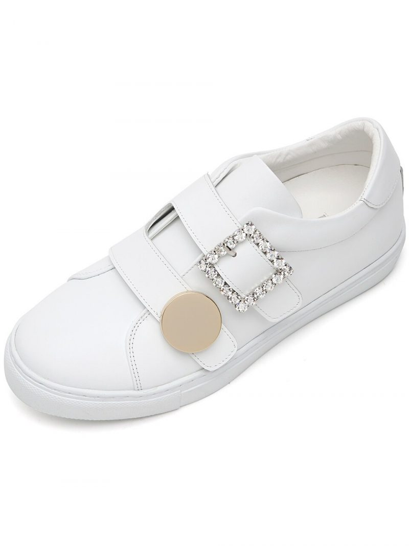 Cheerful Crystal-Embellished Leather Trainers_kw0882_3.5cm