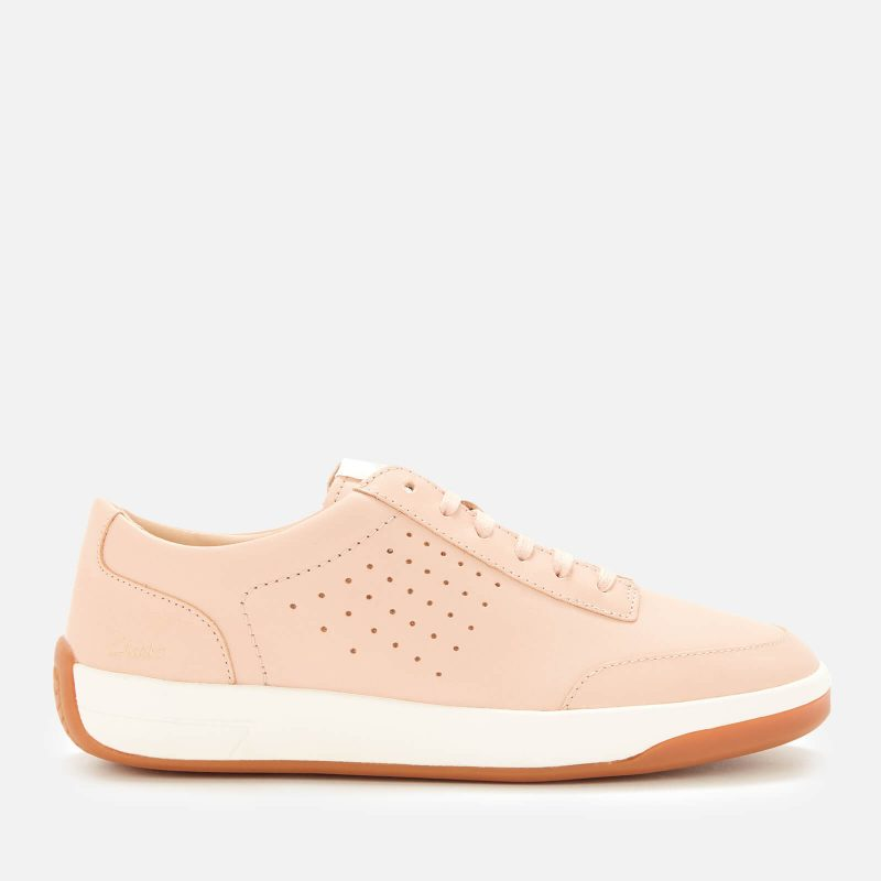 Clarks Women's Hero Air Lace Low Top Trainers - Light Pink - UK 3