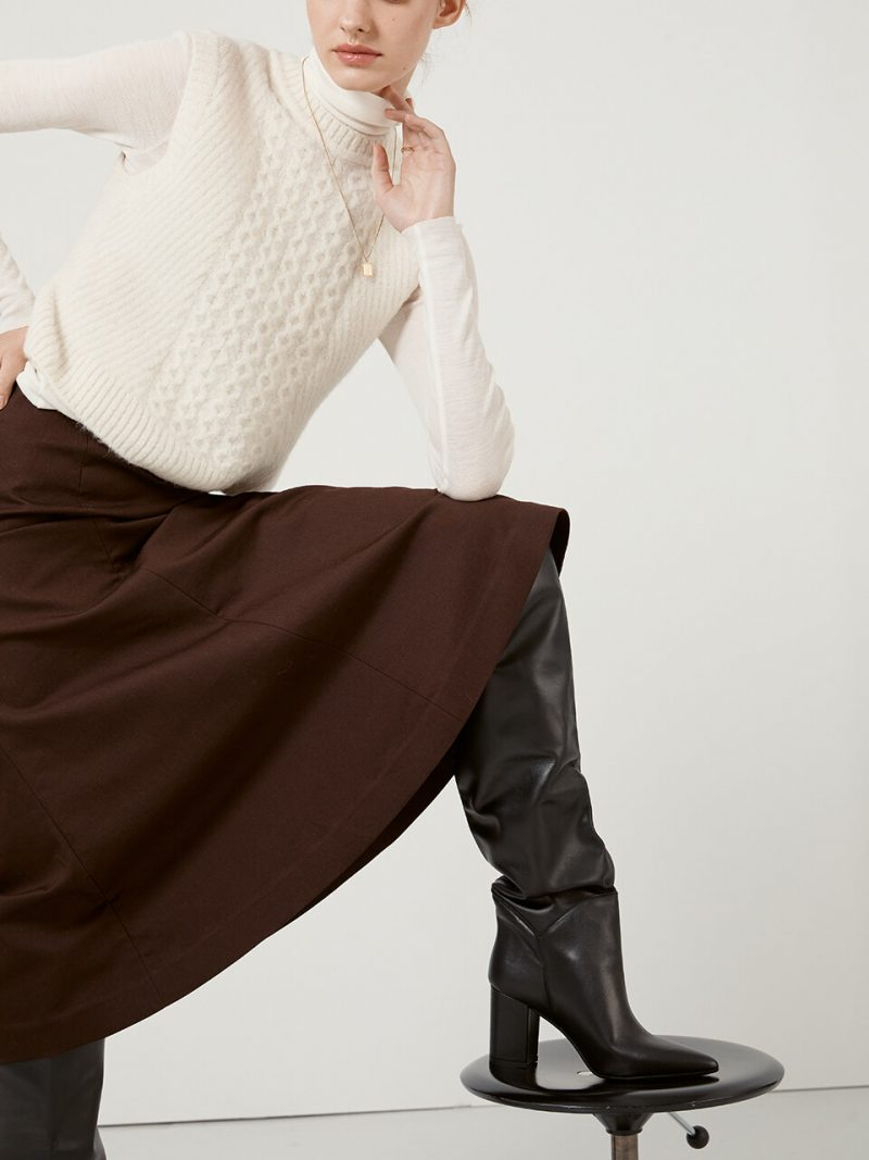 [EXCLUSIVE] LEATHER KNEEHIGH BOOTS_4 COLORS