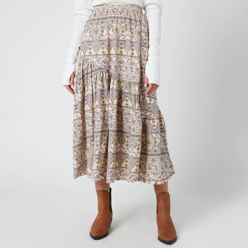 Free People Women's All About The Tiers Print Skirt - Pop Combo - XS