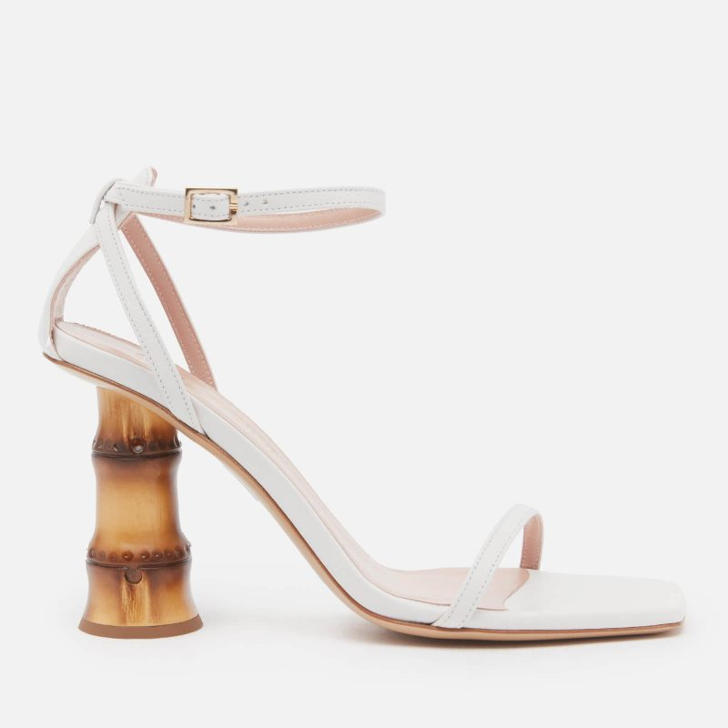 Gia Couture Women's Leather Barely There Heeled Sandals - White - UK 3