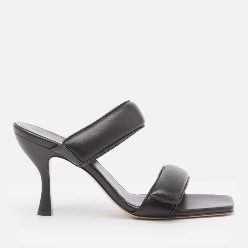 Gia Couture X Pernille Women's Perni 80mm Leather Two Strap Heeled Sandals - Black - UK 3