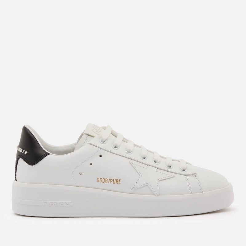 Golden Goose Deluxe Brand Women's Pure Star Chunky Leather Trainers - White/Black - UK 4