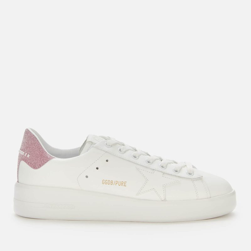 Golden Goose Deluxe Brand Women's Pure Star Leaather Chunky Trainers - White/Pink - UK 3
