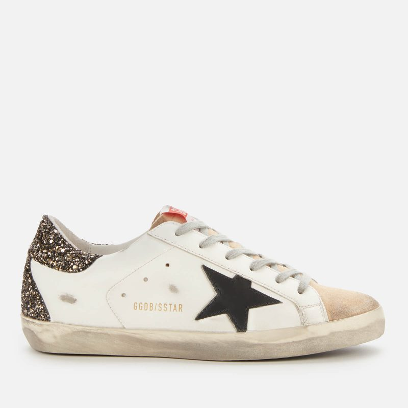 Golden Goose Deluxe Brand Women's Superstar Leather Trainers - Cappuccino/White/Black - UK 3