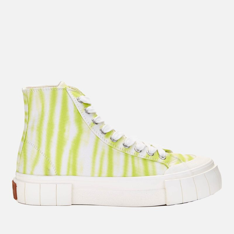 Good News Women's Ombre Palm Hi-Top Trainers - Lime - UK 3